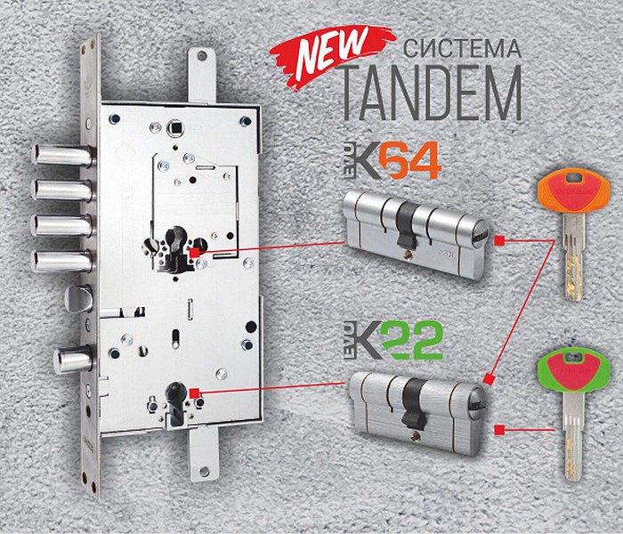 Система Tandem от Securemme - инновация в мире замков!