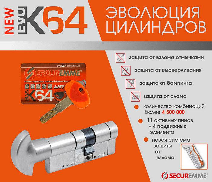 Securemme K64 - эволюция цилиндров!